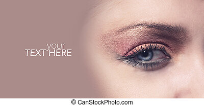 Female eye with the copy space