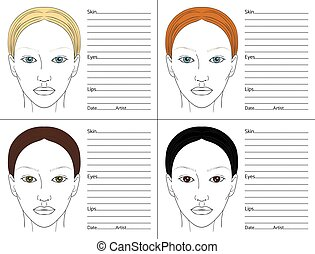 Hair Types Chart Vector Illustration Of A
