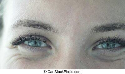 female face close-up.