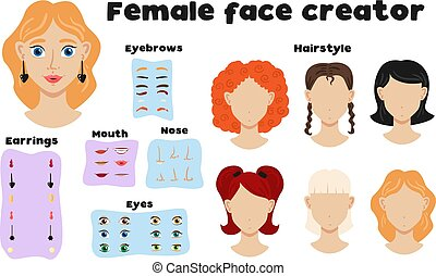 Female Face Constructor Set