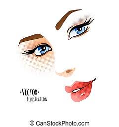 Female face.