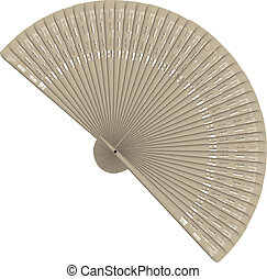 Female fan - Decorative carved wood fan, feminine accessory....