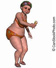 Female fantasy figure with bikini