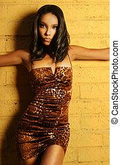 Female fashion model pose - Female fashion model posing in...