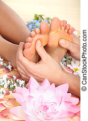 Female feet massage
