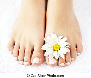 Female feet with pedicure - Soft female feet with pedicure ...