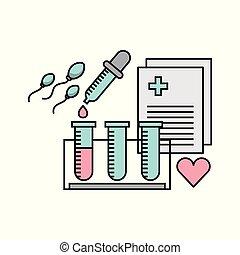 Female fertilization process icon vector illustration design...