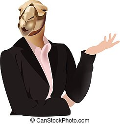 female figure with dromedary camel face
