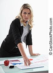 Female financial advisor