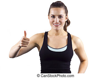Female Fitness Trainer - young female fitness trainer.