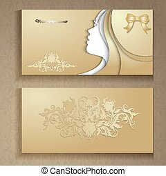 female flyer - Vector illustration of abstract Young girl...