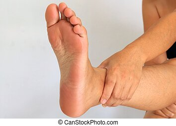 female foot and legs