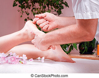 female foot massage