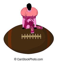 Female Football Player Illustration Silhouette