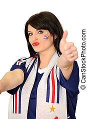 Female French football fan