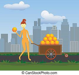 Female Fruit Seller