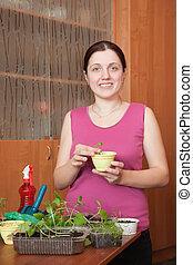 Female gardener