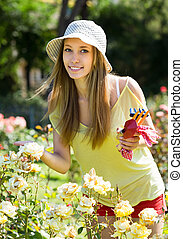 gardener working in a garden