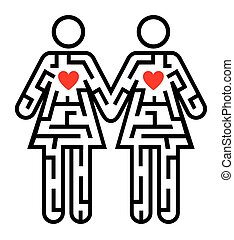 Female Gay couple icon