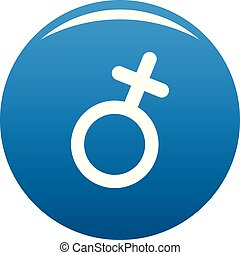 Female gender symbol icon blue vector