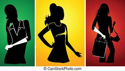 Female Girl Woman Lady silhouette