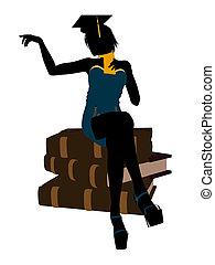 Female Graduate Illustration Silhouette