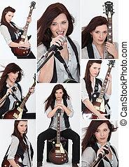 female guitarist and singer