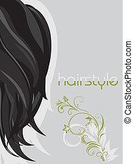 Female hairstyle. Background
