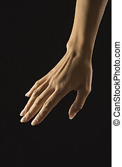 Female hand.