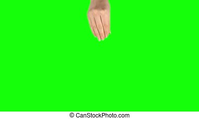 Female hand is performing 5x pinch at tablet screen gesture ...