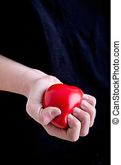 Female Hands Holding a Heart