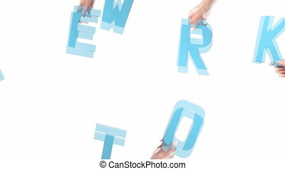 Female hands holding NETWORK