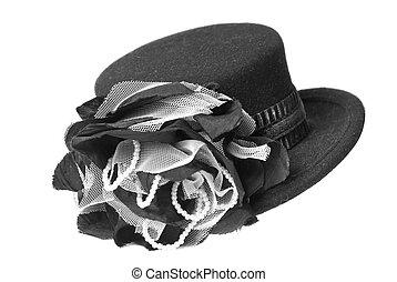 female hat isolated on white