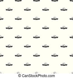 Female hat pattern vector seamless repeat for any web design