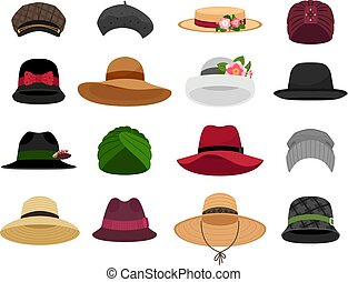 Female hats and caps