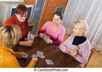 Female having fun with cards