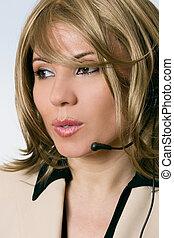 Female Help Desk Operator