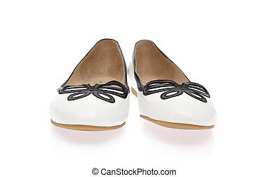Female High-heeled Shoes. Isolated on White Background.