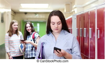 Female High School Student Bullied By Text Message In...