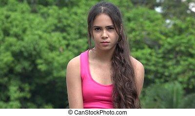 Female Hispanic Teen Happiness Laughter Love