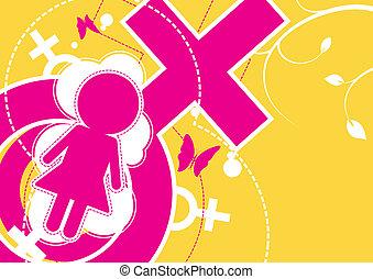 female icon background
