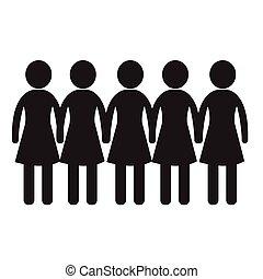 Female Icon Illustration design