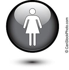 Female icon on black