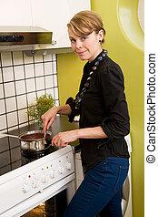 Female in Kitchen