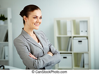 Female in office