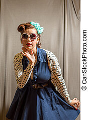 Female in pinup clothing