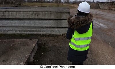 Female inspector Construction Industry concept