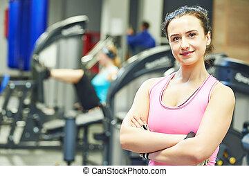 female instructor portrait at a gym