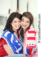 Female Italian football fans
