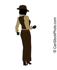 Female Jazz Dancer Silhouette - Female jazz dancer...